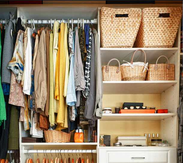 organized closet space