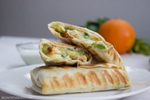 Quick-and-Easy-Chicken-Burritos-with-Sour-cream-Cilantro-Sauce-8