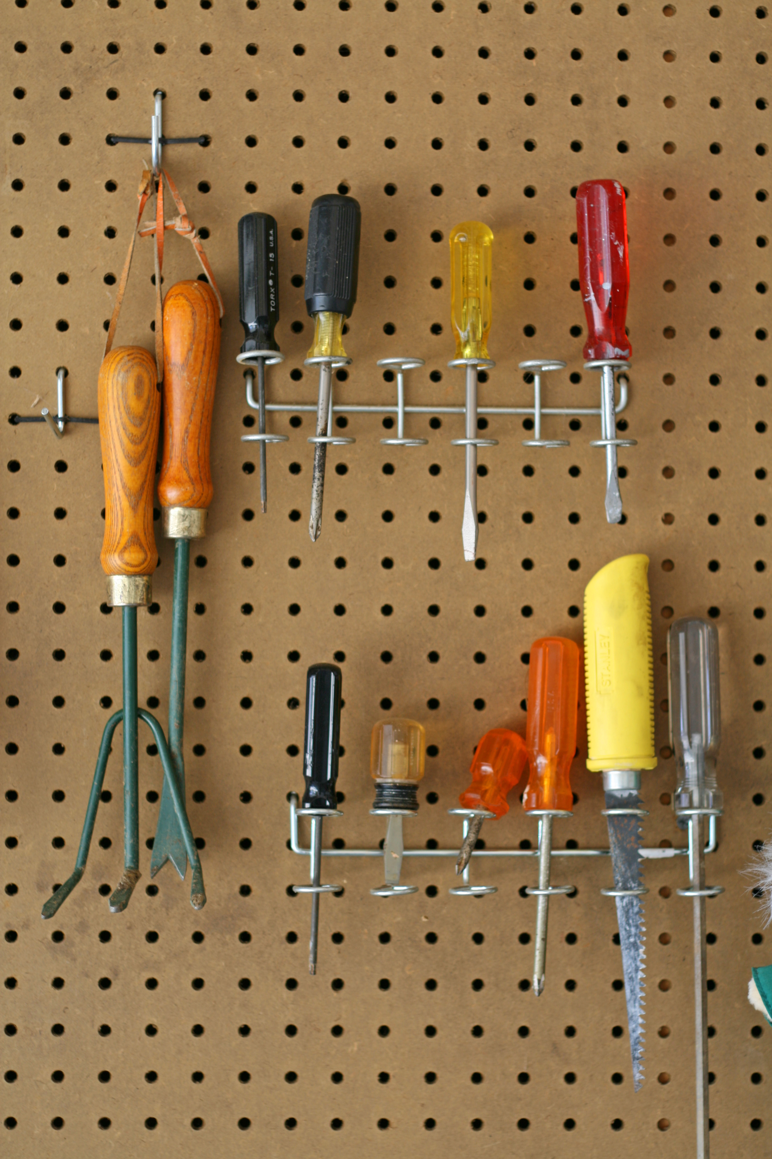 Tools hanging in the garage